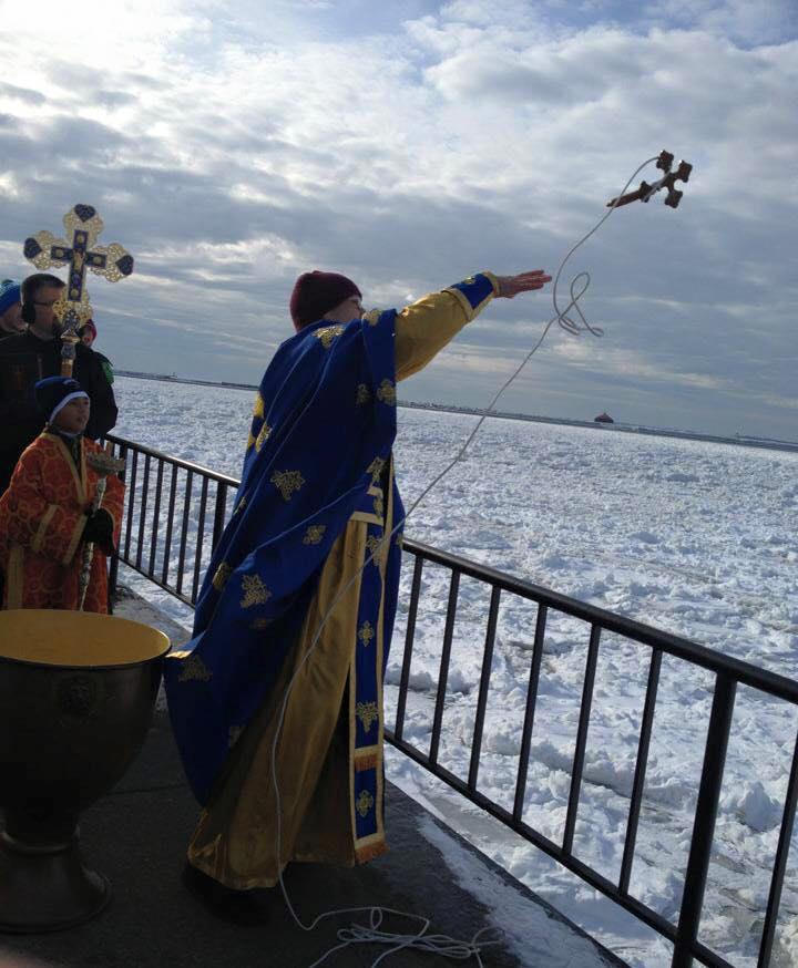 Outdoor Blessing of the waters at the Erie Basin Marina